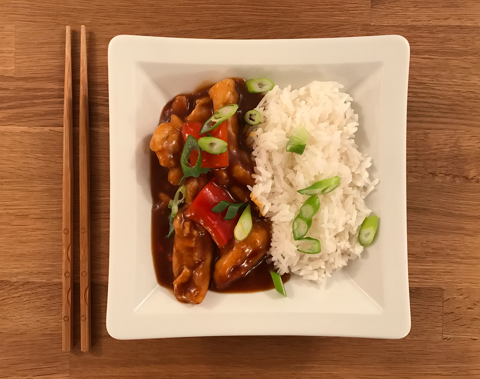 Spiced Honey and Soy Chicken with Rice