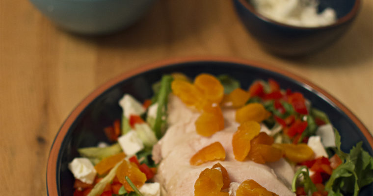 Easy Apricot Chicken with Feta Salad