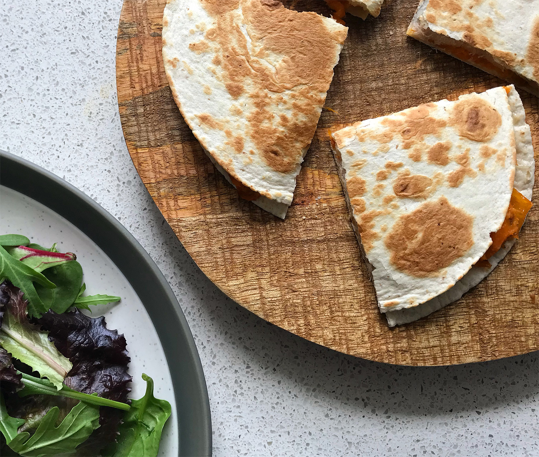 Sweet Potato and Pepper Quesadilla