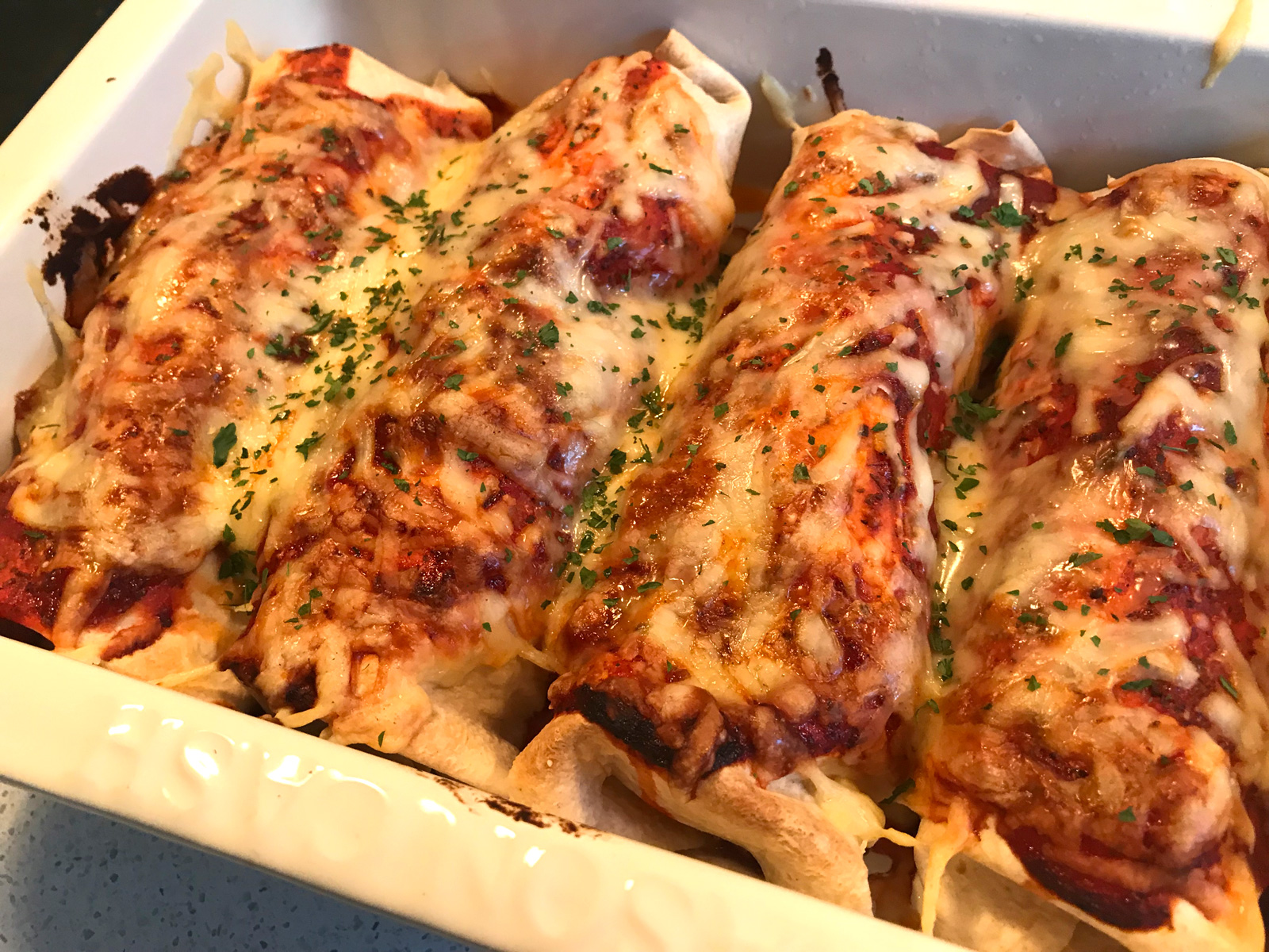 Chicken and Chorizo Enchiladas
